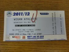 09/05/2012 Ticket: Wigan Athletic - End Of Season Dinner (complete). Thanks for