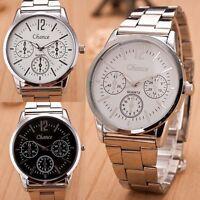 Luxury Men's Date Stainless Steel Bracelet Sport Dial Analog Quartz Wrist Watch