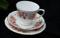 Vintage Colclough Wayside Fine Bone China Cup Saucer Side Plate Trio