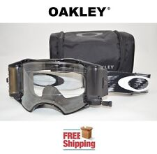 OAKLEY® AIRBRAKE™ GOGGLES + ROLL OFF KIT MX ATV MOTOCROSS MOTORCYCLE JET BLACK