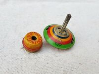 1930s Vintage Spring Spinning Top Tin Toy Japan Good Working Condition