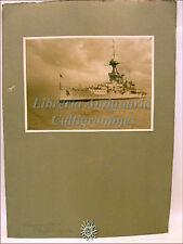 Fotografia Originale: Venezia 1924 NAVE DA GUERRA INGLESE HMS Queen Elizabeth?