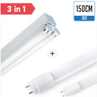5ft LED Fluorescent light fitting tube single or double day light 150cm strip