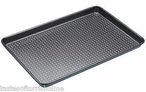 Masterclass Perforated Crusty Bake 39cm x 27cm Non Stick Large Baking Sheet Tray