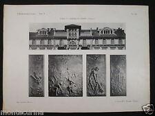 1907 CASA F.LLI BESOZZI TORINO DETTAGLI FACCIAT STAMPA D'EPOCA ARCHITETTURA D269