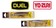 Original DUEL Yo-Zuri 70mm and 90mm STOOP SR HSWS Lure + 2 iron-on patch