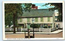 *Old Witch House After 1780 Salem Massachusetts old Vintage Postcard B72