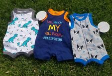 Baby Boy Clothes Lot 3-6 Months One Piece, Jumper, Jump Suit NEW TAGS