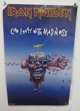 IRON MAIDEN POSTER FUNKY ENTERPRISES ROCK & ROLL METAL CAN I PLAY WITH MADNESS