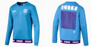 Puma Manchester City Football Culture Sweatshirt Soccer Shirt Blue Men's Large