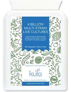 4 Billion Live Bio Cultures 8 Strain Probiotic Supplement 30 Capsules (1 a Day)