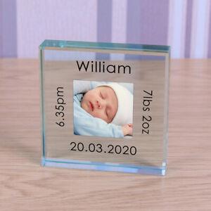 Personalised Glass Token - New Baby Christening Baptism Baby Shower Newborn Gift