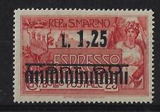 1927 San Marino espressi Soprastampato Lire 1.25 su 60 cent. su 25 cent. MNH