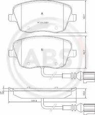 Front Brake Pad Set A.B.S. 37338