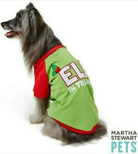 "Martha Stewart Pets® ""ELF IN TRAINING"" Holiday Tee Size Medium NEW"