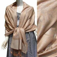 Etole écharpe scarf châle IMPRESSION CACHEMIRE pashmina /soie beige