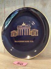 Collection plate ,Brandenburg Gate KPM Print Cobalt Blue And Gilding