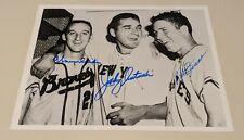 1956 Johnny Antonelli Warren Spahn Bob Friend signed auto All-Star game photocoa