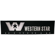 "Western Star Black 6"" x 24"" Semi Truck Splash Mud Flap-quarter Fender Flaps-Set"