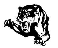 "large 23"" car bonnet side sticker tiger tribal vinyl graphic decal van big cat"