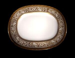 Stunning Minton Porcelain Ball Ivory Large Oval Platter