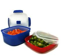 Microwave Vegetable Steamer Container Food Steam Set of 2