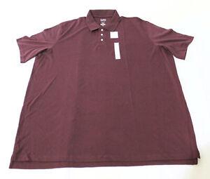 Croft & Barrow Men's Active Extra Soft Short-Sleeve Polo RH7 Burgundy Size 4XLT