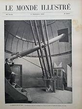 LE MONDE ILLUSTRE 1905 N 2527 A L'OBSERVATOIRE DE PARIS, L' ECLIPSE DU 30 AOÛT