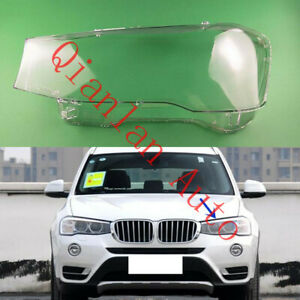 Left Side Lucency Headlight Cover With Glue For BMW F25 F26 X3 X4 2015-2017