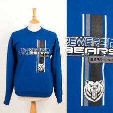 MENS VINTAGE RETRO SWEATSHIRT JUMPER SWEATER BREWER BEARS BEAR PRIDE COLLEGE M