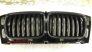 MIT CARBON LOOK FRONT KIDNEY GRILLE BMW E34 5 SERIES 1994-1995