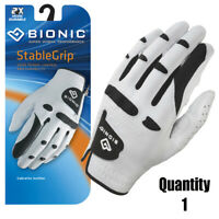 Bionic Golf Glove - StableGrip - Mens Left Hand - White - Leather Medium/Large