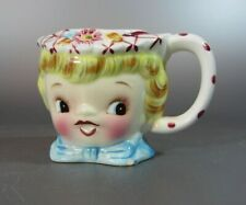 Vintage Lefton Japan ESD Creamer # 6820 Blonde Miss Dainty Hand Painted
