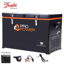 Pro Power 65L Portable Dual Compartment Fridge / Freezer Camping 12v24v 240v