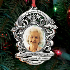 NEW Merry Christmas From Heaven Photo Ornament - Xmas Holiday Keepsake Memorial