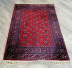 "4' 3"" x 6' Authentic Karastan Bokhara Rug Wool 4x6 Red Area Carpet #722 Nice"