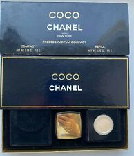 CHANEL COCO PRESSED PARFUM COMPACT + REFILL SET 2X 1.5 G VINTAGE