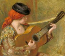 Young Spanish Woman with a Guitar by Pierre-Auguste Renoir 60cm x 50cm Art Print