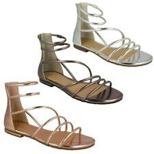 Scarpe da donna gladiatori casual in argento