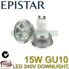 5 X EPISTAR LED GU10 15W bulb downlight spotlight globe lamp WARM WHITE 240V