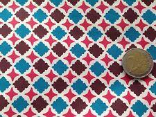 coupon de tissu  PUR coton    imprimé  mosaique  canard marron: 3.00 m ; Ref  MO