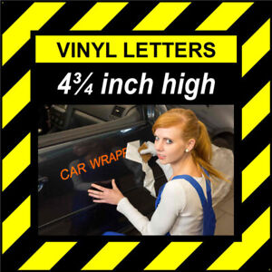 4 Characters 4.75 inch 121mm high pre-spaced stick on vinyl letters & numbers
