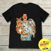 RARE!!New Freddie Mercury With His Cats T-shirt, Men's Women's All Sizes