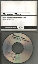 GREEN DAY Wake me up when September Ends RARE 2004 PROMO Radio DJ CD Single MINT