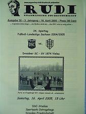 Programm 2004/05 Dresdner SC 1998 - SV 1874 Vielau