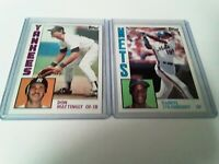 1984 Topps DON MATTINGLY and DARRYL STRAWBERRY ROOKIES set