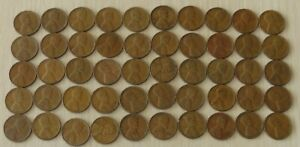 1941  #2 Roll Vintage Wheat Pennies, pennies fine or better,