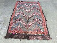 Old Turkish Kilim Rug shabby chic vintage wool country home decor Kelim antique