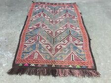 Old Turkish Kilim Rug shabby chic vintage wool country home decor Kelim antique