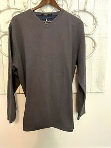 VTG Johnnie Walker Men's Size L Pima V-Neck Long Sleeve Shirt  Subtle Patterned